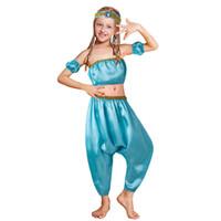 Wholesale pants clothe pieces resale online - Pettigirl Girls Jasmine Princess Sets Haren Tops Pants Hair Strap Prom Dance Boutique Kids Girl Clothes G DMCS204 G003