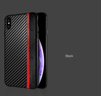 Wholesale white carbon fiber skin online - 2019 new cell phone case Carbon fiber skin phone case two in one plated for Iphone XR XS MAX X S S red coffee black white goldOPP Bag