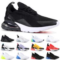 fotos pretas venda por atacado-Nike Air Max 270 Barato Running Shoes Homens Mulheres Trainer SER VERDADEIRO Hot Soco Triplo Preto Branco Oreo Teal Foto Azul Designer de Esportes Tênis Tamanho 5.5-11