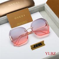 kutu filmleri toptan satış-En tasarımcı güneş gözlüğü 2019 new moda marka bayanlar kısmi parlak film güneş gözlüğü orijinal kutusu ambalaj yüksek kalite 404 toptan olabilir