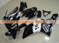 ninja zx6r kaplama kiti batı toptan satış-Yeni Enjeksiyon Kalıp ABS motosiklet bisiklet grenaj Kawasaki Ninja ZX6R için uygun 636 2003 2004 ZX6R 03 04 set kaporta özel kaporta kitleri BATI