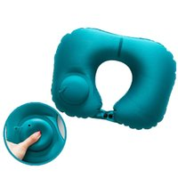 Wholesale accessories for travel resale online - 4Colors Travel Pillow for Airplane Inflatable Pillow Camping Travel Accessories Comfortable Pillows for Sleep Home Textile