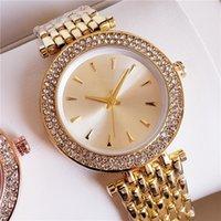 diamante m relógio venda por atacado-NOVO! Mulheres de luxo subiu relógio de diamantes de ouro M 40mm banda de Aço relógio de quartzo vestido de luxo pulseira de luxo designer de marca de relógios das mulheres montres