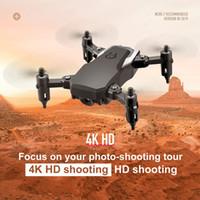 mini kamera tasarımı toptan satış-Hava Fotoğrafı Mini LF606 Wifi FPV RC Drone 4K Kamera Katlanabilir ve Taşınabilir Tasarım Yerçekimi Duyarlı RC Uçak Çantası Paketi LA262