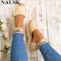 zapato de roma tamaño 34 al por mayor-Tallas grandes 34-43 Sandalias planas Sandalias de verano para mujer Zapatos casuales de moda para mujer Estilo europeo de Roma Sandale Femme