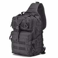ingrosso army sling bag-Tactical Assault Pack Sling Backpack Esercito Molle Impermeabile EDC Zaino per escursionismo all'aperto Caccia campeggio 20L