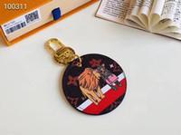 китайский держатель телефона оптовых-Симпатичная мода Tiger Designer автомобильный брелок из натуральной кожи Сумки для ключей с подарками для женщин
