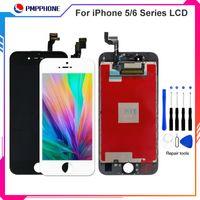 ingrosso trasporto libero dhl 5c-Grande qualità Tianma per iPhone 5 5C 5S 6G 6s 6plus LCD Touch Screen Digitizer Assemblea set completo con spedizione DHL gratuita