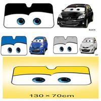 araba ön cam güneşlik toptan satış-4 Renkler Gözler Isıtmalı Ön Cam Güneşlik Araba Pencere Ön cam Kapak Sun Gölge Oto Güneşlik Araba Güneş Koruması Car-kapakları