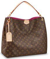 Wholesale new straw handbags resale online - GRACEFUL MM M43703 NEW WOMEN FASHION SHOWS SHOULDER BAGS TOTES HANDBAGS TOP HANDLES CROSS BODY MESSENGER BAGS