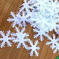 Wholesale baby favor candles resale online - Artificial Snow Flowers confetti Scatter for Party Winter New Year Christmas Gift Craft Party baby shower favor Decor DIY