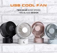 ingrosso usb della lamierina-2019 Handy Cooling USB Fan Portable Small Desk USB 7 Lame di raffreddamento Mini ventilatori a vento regolabili Super Mute Silent Powered by Laptop Powerbank