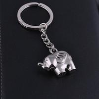 выступает за крещение оптовых-80pcs/lot lovely zinc alloy elephant keychain  wedding party door gifts, baby baptism christening favors