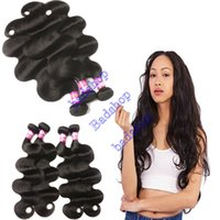 Wholesale best hair extensions resale online - 9A Best Quality Brazilian Virgin Hair Bundles Body Wave Human Hair Extensions Brazilian Body Wave Double Weft Hair Weaves