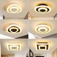 plafones de baño cuadrados al por mayor-Luz de techo moderna Lámpara de LED corredor para cuarto de baño salón redonda cuadrada de iluminación Inicio accesorios decorativos