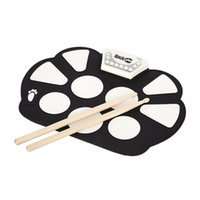 Wholesale electronic shows for sale - Group buy Foldable Silicone USB Gift Roll Up Stick Pedal Electronic Drum Pad Kids Drum Sets Percussion Professional Musical Instrument Beginners Show