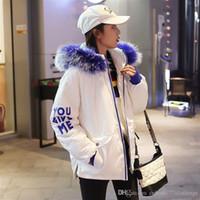 674fd69311e3d Korean styles winter jacket women large fur collar hood Outwear Down Parka  coat womens fashion cotton windbreaker female winter jacket