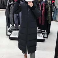 abrigos de mujer en línea al por mayor-Moda Invierno Down Parkas My-stiques Mujeres Diseñador Chaquetas largas Piel con capucha Outwear Mujer Parka clásica Abrigos cálidos al aire libre en línea