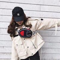 Wholesale cross body backpacks girls resale online - Embroidery Champions Letter Fanny Packs Belt Waist Bags Teenager One Shoulder Bag Unisex Travel Pouch Hip Hop Cross Body Chest Bag New C3157