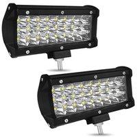 kapalı yol barları toptan satış-7 inç 72 W 7200LM IP68 Su Geçirmez 3 Satır LED Şerit İş Işık Bar Tamir Sürüş Off-road Işık Çatı Şerit Lambası Araç Jeep SUV