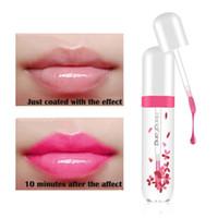 flower jelly lipstick toptan satış-Moda Dudaklar Makyaj Su Geçirmez Uzun Ömürlü Dudak Parlatıcısı Renk Değişiklik Renk Bebek Dudaklar Şeffaf Çiçek Jöle Ruj Makyaj Kiti