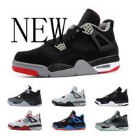 ücretsiz çevrimiçi basketbol ayakkabıları toptan satış-jordan 4 Ücretsiz Kargo ayakkabı 4 s ucuz Royalty basketbol ayakkabıları Korku Çimento Oreo Black Cat Sneaker Spor Ayakkabı, Online Satış boyutu 8-13
