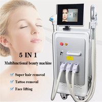 Wholesale rf skin rejuvenation beauty device for sale - Group buy IPL OPT SHR Beauty Machine Elight RF Skin Rejuvenation Nd Yag Laser Tattoo Removal Black Doll Treatment Device