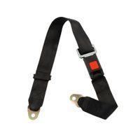 Adjustable Seat Belt Car Lap Belt Universal 2 Point Safety Travel Black
