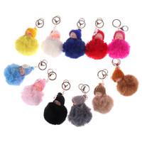 милые брелки для ключей оптовых-Симпатичные брелоки Sleeping Baby Doll брелок Soft Flush Бал брелок Украшение автомобиля подарок ювелирных изделий Key Chain несколько цветов Доступных