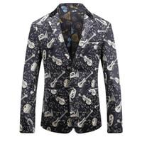 düğmeler kodu toptan satış-Kod Numarası Kod Baskı Adam Rüzgar Olacak Iki Düğme Erkek Takım Elbise Ceket Gevşek Ceket