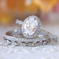 weibliche 925 silberne verlobungsringe großhandel-Luxuxart und weise 925 silberner weißer Standarddiamant weiblicher Ring-Verlobungs-Hochzeits-Brautprinzessin-Liebesringgröße 6-10