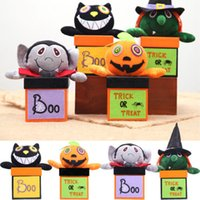 papéis de boneca venda por atacado-Presentes 1Pcs Paper Candy Caixa com lanches Handle presentes do Bolsa Para Halloween Party boneca Cookie Jar Caso Container Organizer