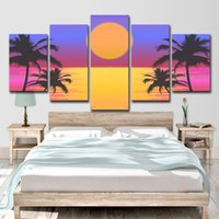 Wholesale oil canvas palms for sale - Group buy HD Printed Piece Canvas Art Palms Vector Pictures for Living Room Modern Canvas Painting