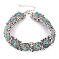 Wholesale environmental necklaces resale online - Manufacturers selling new European style environmental protection alloy short necklace fashion