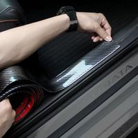 3d aufkleber toyota großhandel-Auto Aufkleber 5D Carbon Fiber Rubber Styling Einstiegsleisten Beschützer Waren Für KIA Toyota BMW Audi Mazda Ford Hyundai etc Zubehör
