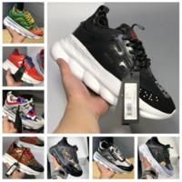 solas de sapato de borracha à venda venda por atacado-2019 Nova Venda Sneakers Esporte Leve-Relevo Em Relevo Único Malha De Borracha De Couro Saco De Poeira sem caixa de Reação Em Cadeia Sapatos Sapatos Casuais Desig