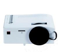 proyector para telefono tv al por mayor-Unic UC18 LCD Mini Proyector Soporte HDMI USB AV Tarjeta TF Home Cinema Proyector portátil para TV Teléfono inteligente