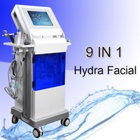 Wholesale microdermabrasion in1 resale online - 9 in1 hydro dermabrasion equipment professional microdermabrasion machines Deep cleaning facial skin peeling machine scrubber high frequency
