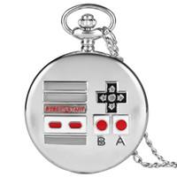 interessanter anhänger großhandel-Spezielle Taschenuhr für Kinder Interessante Taschenuhren für Junge Mädchen Quarz Anhänger Halskette Uhr Kette Freund