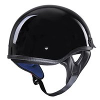 Wholesale helmet approved resale online - Motorcycle Helmet For Man And Woman S M L XL Retro And Vintage Half Open Face DOT Approved