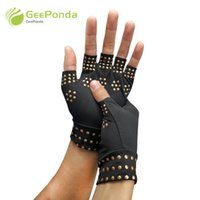 массажер для рук оптовых-Arthritis Therapy Wrist Support Gloves Relief Arthritis Pressure Pain Heal Joints Magnetic Therapy Gloves Support Hand Massager