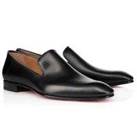 vestidos de negócios negros para as mulheres venda por atacado-Marca De Negócios Cavalheiro De Couro Preto Vermelho Fundo Greggo Orlato Flats Homens, Mulheres Andando Vestido De Festa De Casamento De Luxo Designer De Sola Vermelha Sapatos