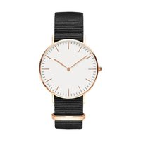 Wholesale trend quartz watch resale online - Top classic fashion casual trend brand mm men and women mm fashion casual sports clock classic black nylon canvas men s quartz watch