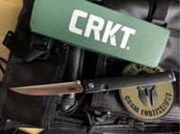 Wholesale stainless steel outdoor knife resale online - New Arrival Folding Knife Cr13Mov Blade Fiber Handle Outdoor Survival Tactical EDC Pocket Knives