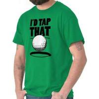 ingrosso palle sessuali-Id Tocca quella sfera da golf Funny Hole Hole in One T-shirt classica da uomo sportivo