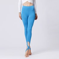 Wholesale womens sexy yoga pants leggings resale online - Womens Bottoms Bandage Pants High Waisted Workout Leggings Sexy Elastic Tights Sports Yoga Pants Fitness Trousers Running Dance Skinny Pants