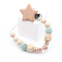 Wooden Dummy Clip Soother Clip Holder Personalised Dummy Clip Chain