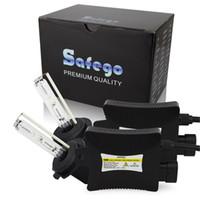 Wholesale hid xenon driving lighting kits resale online - Safego set Car healight bombillas h7 xenon single beam w xenon hid kit K K K K K K driving lights