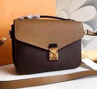frauenhandtaschen paris großhandel-Pochette Metis Designer Crossbody Frauen L Umhängetasche Handtasche Damentasche Designer Luxus Mode Umhängetasche Paris alte Blume Handtaschen.