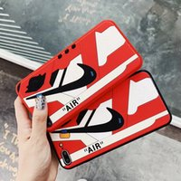 Wholesale silicone cell phone cases online – custom 3D Sneaker Design Luxury Phone Case for Iphone X plus plus plus Designer Sneakers Cell Phone Case Silicone TPU Case